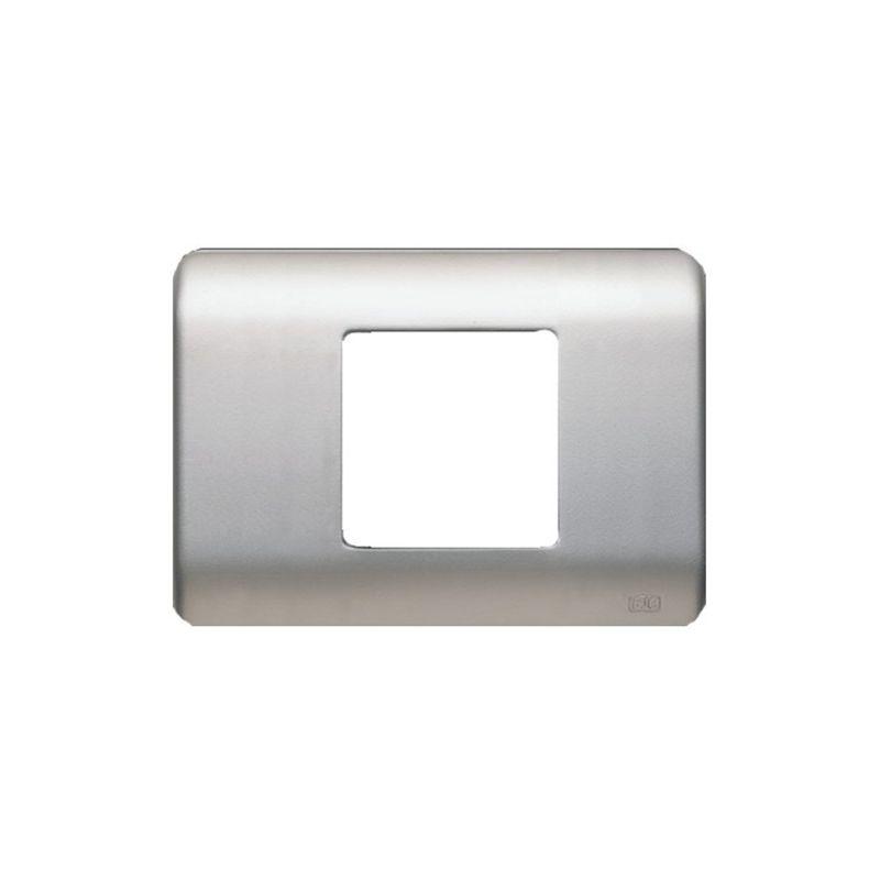 Interruptores y Enchufes por marca BJC Marco 2 elementos estrechos plata BJC Rehabitat 16652-PL - reemplazo Lineal