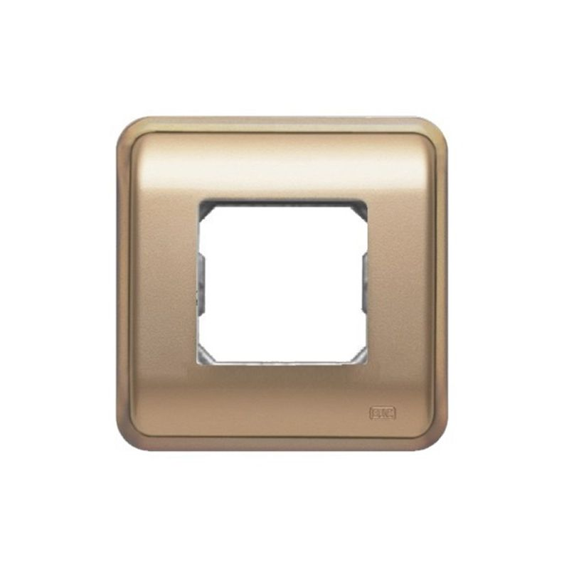 Interruptores y Enchufes por marca BJC Marco 2 elementos estrechos dorado BJC Rehabitat 16662-DR - reemplazo Estrella