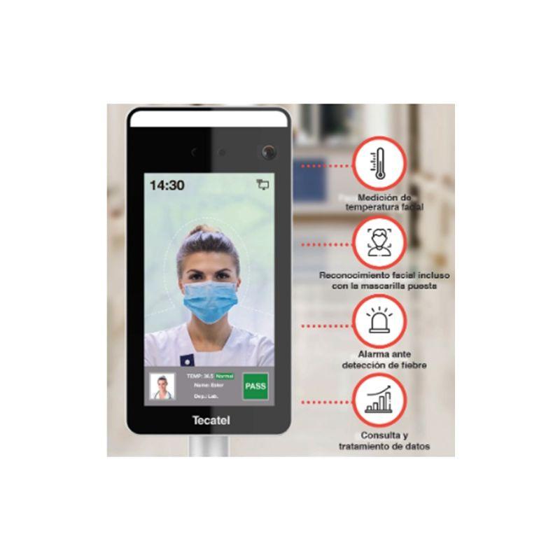 TECATEL SL TECATEL SL Control de Acceso Facial con Detección de temperatura Tecatel SE-PAIRT