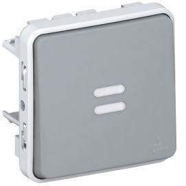 Pulsador luminoso componible gris Legrand Plexo 069542