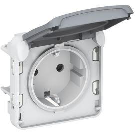 Enchufe 2P+T componible gris Plexo Legrand 069571