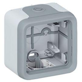 Caja de superficie 1 elementos gris Legrand Plexo 069651