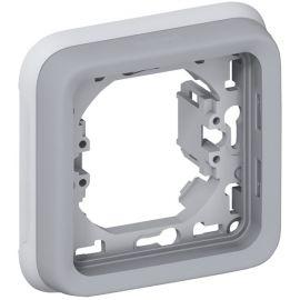 Marco de empotrar 1 elemento gris Legrand Plexo 069681