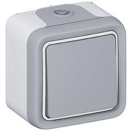 Interruptor-conmutador monobloc gris Legrand Plexo 069711