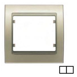 Marco 2 elementos dorado malta BJC Mega 22002-DM
