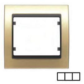 Marco 3 elementos dorado BJC Mega 22003-DG