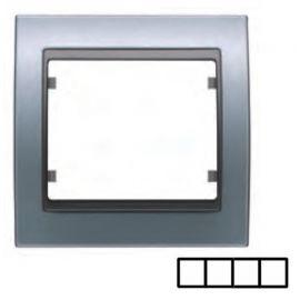 Marco 4 elementos aluminio prusia BJC Mega 22004-AP