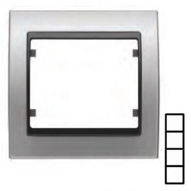 Marco 4 elementos vertical aluminio BJC Mega 22104-AG