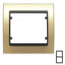 Marco 2 elementos dorado BJC Mega 22102-DG