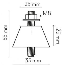 VECAMCO VECAMCO Kit antivibración suelo (x4) 50Kg 35x25mm para aire acondicionado Vecamco 9898-024