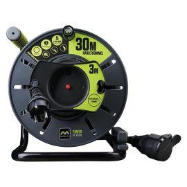 Carrete alargador 30 + 3 metros toma Schuko 16A Masterplug Pro-XT