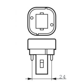 Bombillas y tubos convencionales PHILIPS Bombilla bajo consumo 26W 840 MASTER PL-C 2 Patillas