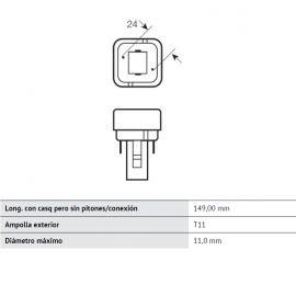 LEDVANCE LEDVANCE Bombilla bajo consumo Osram Dulux PL-C 2 Patillas 26W 3000K G24d-3