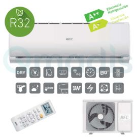 Aire acondicionado Hec 25 Split Pared 1x1 Inverter (HEC25TF2+HSU-09TK1)