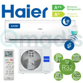 Aire acondicionado Haier GEOS+ GREEN AS-25 Split 1x1 Inverter Wifi de Serie