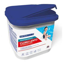 Cloro lento granulado para desinfección de piscina. 5Kg. Astrapool 11405