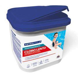 Cloro lento en tabletas para desinfección de piscina. 5Kg. Astrapool 34434