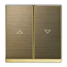 Tapa doble interruptor pulsador persianas oro envejecido Niessen Sky NIES 8544 OE