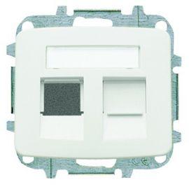 Tapa datos 2 conectores blanco alpino Niessen Arco 8218.2 BA