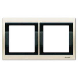 Marco 2 elementos horizontal blanco jazmín Niessen Olas 8472.1 BL