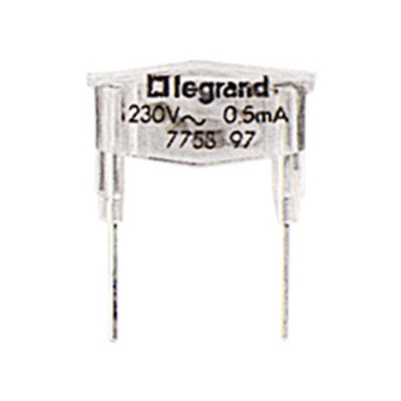 Interruptores y Enchufes por marca LEGRAND Lampara de recambio neón verde 0,5 mA Legrand Galea Life 775897