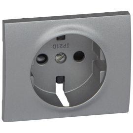 Tapa toma enchufe 2P+T aluminio Legrand Galea Life 771321