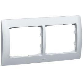 Marco 2 elementos horizontal aluminio Legrand Galea Life 771302