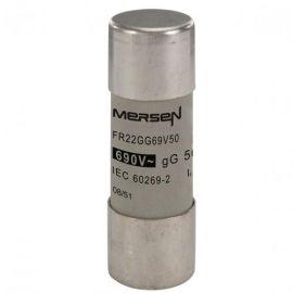 Fusible cilíndrico cerámico 22x58mm 80A sin indicador Mersen Q217180J