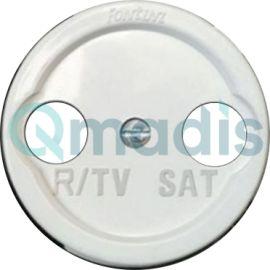 Tapa porcelana R-TV/SAT blanco Fontini Venezia / Garby / Garby Colonial 35-715-05-2