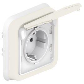 Enchufe 16A blanco monobloc Legrand Plexo 069869