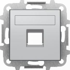 Tapa toma informatica con persiana Plata Niessen Sky 8518.1 PL