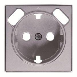 Tapa base enchufe schuko con doble Cargador USB Plata Niessen Sky 8588.3 PL