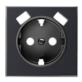 Tapa base enchufe schuko con doble Cargador USB Negro Soft Niessen Sky 8588.3 NS