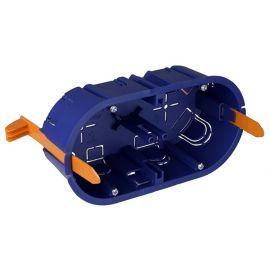 Caja de empotrar 2 mecanismos en tabique hueco fijación con bridas Solera 5725GW