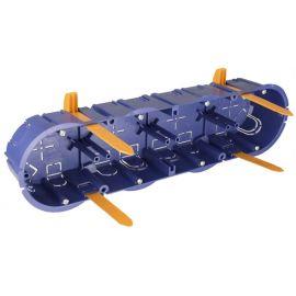 Caja de empotrar 4 mecanismos en tabique hueco fijación con bridas Solera 5925GW
