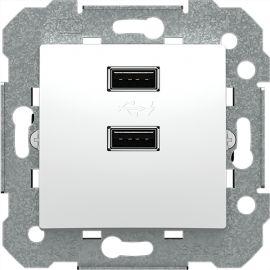 Cargador doble USB 2.1A blanco polar BJC Viva 23580