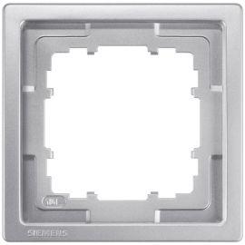 Marco de 1 elemento platino metalizado Siemens Delta Style 5TG1321-1