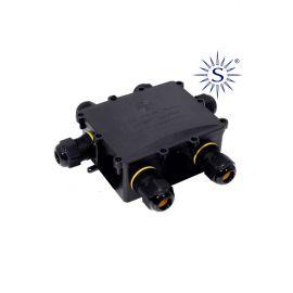 Caja conexión luminarias con 6 prensaestopas IP68 24A 450V Solera Black Series BK-6P
