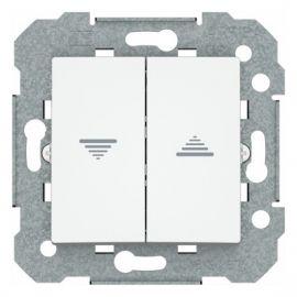 Doble pulsador de persiana blanco BJC Viva 23565