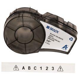 Cartucho etiquetas blancas de 9,53 mm de ancho y 6,4m de longitud Brady M21-375-595-WT
