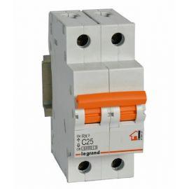 Interruptor Automático Magnetotérmico 2P 25A Legrand 419937 RX3 Vivienda