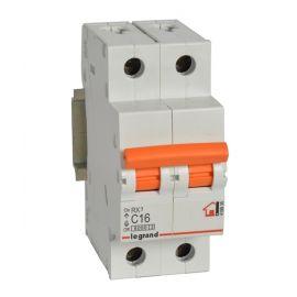 Interruptor Automático Magnetotérmico 2P 16A Legrand 419935  RX3 Vivienda