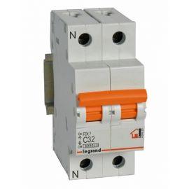 Interruptor Automático Magnetotérmico 1P+N 32A Legrand 419929  RX3 Vivienda
