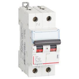 Interruptor Magnetotérmico 1P+N 10A DX3 6/10KA Curva C Legrand 407754