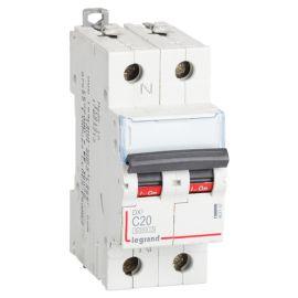 Interruptor Magnetotérmico 1P+N 20A DX3 6/10KA Curva C Legrand 407757