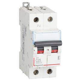 Interruptor Magnetotérmico 1P+N 25A DX3 6/10KA Curva C Legrand 407758