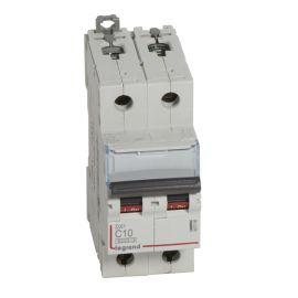 Interruptor Magnetotérmico 2P 10A DX3 6/10KA Curva C Legrand 407798