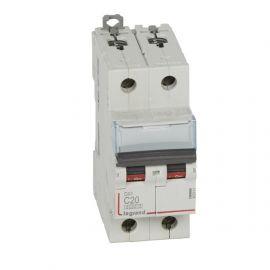 Interruptor Magnetotérmico 2P 20A DX3 6/10KA Curva C Legrand 407801