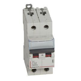 Interruptor Magnetotérmico 2P 32A DX3 6/10KA Curva C Legrand 407803