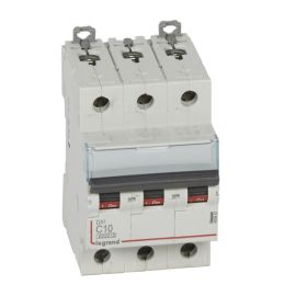 Interruptor Magnetotérmico 3P 10A DX3 6/10KA Curva C Legrand 407857